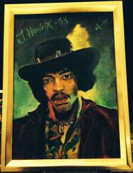 Jimi Hendrix - Golden by MichaelVance-ART