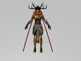 Angela Queen of Hela (MarvelFF 3DModel) by Pitermaksimoff