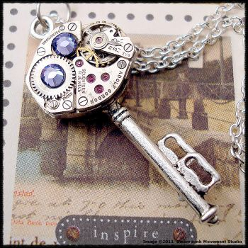 Steampunk Double Stacked Key by SoulCatcher06
