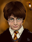 Harry Potter portrait (Y1) WIP by ForsThenebriss