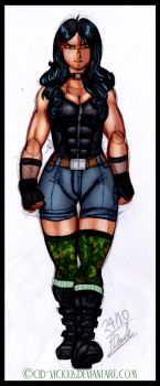 Sketch  - The Green-Eyed Devil by Cid-Vicious