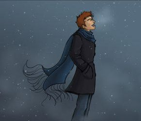 Fred in the Snow by Starhorse by xDrop-Dead-Fred