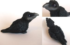 Black Crow Sculpture by IllusionTree