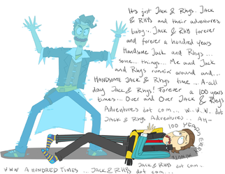 Borderlands crossover Rick and Morty by Hy07