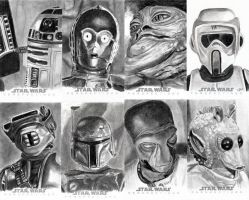Topps Sketch Cards Group 1 by khinson