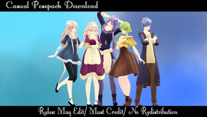 Casual Posepack Download by SmolSpoon