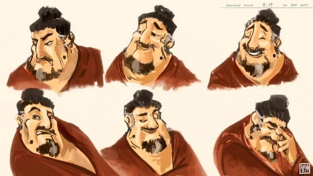 Culinary God Expression Sheets by minifong