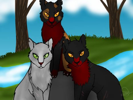 Three RiverClan leaders by snowstormspawn