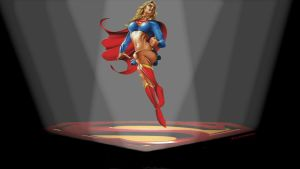 Supergirl Wallpaper In The Spotlight by Curtdawg53