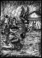 Midda vs Carsa: an unpublished art from Book IV by middaschronicles