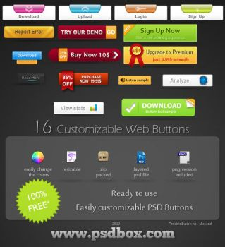 Free PSD Web Buttons by Andrei-Oprinca