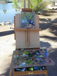 Plein air painting at Papago Park, AZ by Ravenhaven