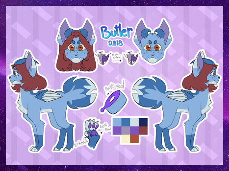 i redesigned my fursona (again) by butlerkitties