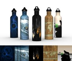 TMC Water Bottles 2 by Facial-Tic
