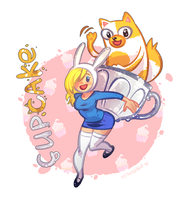 Fionna and Cake by visualkid-n