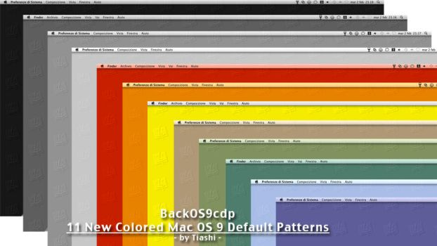 Colored OS 9 Default Patterns by tiashi