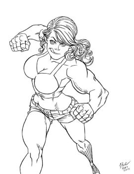 She-Hulk commission 13 by Xenomrph