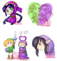 A link between worlds sketches by Audinitia