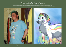 The similarity Meme - me and my account mascot by StanHoneyThief