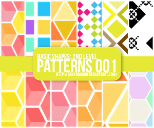 Pattern 001: Basic Shapes - 2nd Level by fanydragon