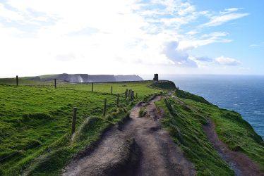 Cliffs of Moher - pathway by alina-ay