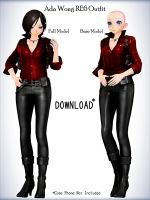 Ada Wong Outfit-Base DL by xXFrenchToastXx