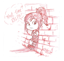 Vanellope: What time? Ralph! by lokinpong