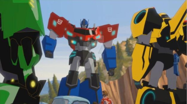 Optimus Prime's new look(Robots in Disguised 2015) by ChromiaSonicPrime