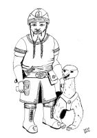 Dwarf and Honey Badger by rcdg