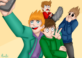 Draw the squad [Eddsworld] by AmitiArt