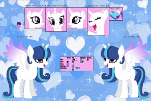 Crystal Melody Referance Sheet by SeraphineFrost