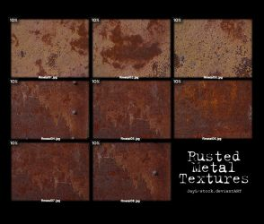 Rusted metal Pack 01 by JayL-stock