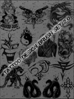 Tattoo Design Brush Set 2.0 by schmitthrp