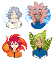 Inazuma Eleven boyos !! by That-oneartist