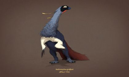 Dinovember #8 - Nothronychus graffami by AntoninJury