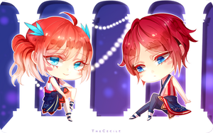 Katsu Bday Chibis by TheCecile