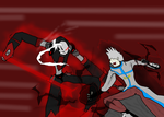 DeadCell vs Sakkarra by MethusulaComics