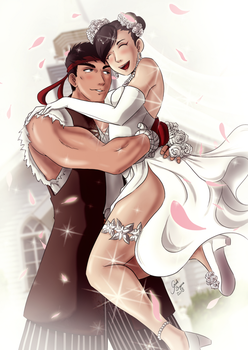 Ryu and Chun-li - Wedding by GiseleBizarra