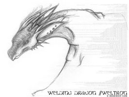 Welding Dragons of Weltron by kisa