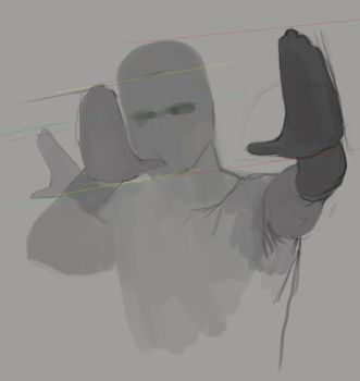 hand proportions in persp by EthicallyChallenged