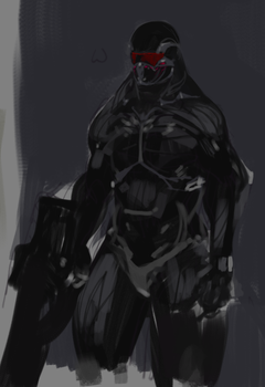 crysis man by xankr