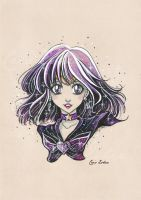 Sailor Saturn - Fanart Sailor Moon by CrisEsHer