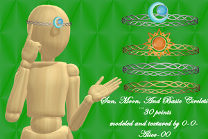 MMD Sun, Moon, and Basic Circlets ~30 point DL by 0-0-Alice-0-0