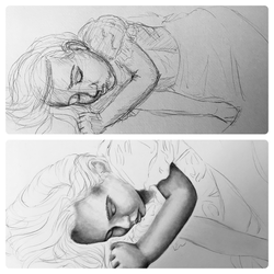 Drawing process by J-Cody