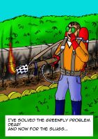 Flame-thrower Gardening by rcdg