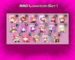 MMD Luka Icon Set 1 by Xoriu