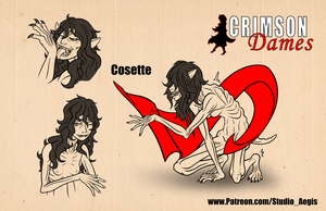 Crimson Dames - Cosette Transformation by Paladin-Ciel