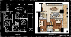 2 Bedroom Apartment by Zorrodesign