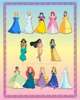 Cutesy Disney Princesses by AmadeuxWay