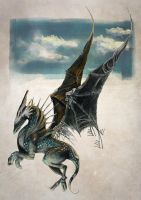 Labradorite Dragon by speck-of-dust